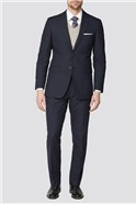 Deep Blue Texture Regular Fit Suit Jacket