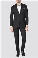 Black Texture Dresswear Tailored Suit Trousers