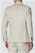 Taupe with Berry Overcheck Slim Fit Tweed Suit
