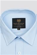 Blue Poplin Single Cuff Shirt