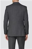 Alexandre Silver Charcoal Texture Regular Fit Suit Jacket