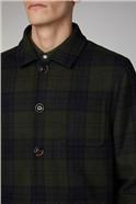 Ursholmen Green Wool Blend Check Jacket