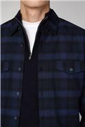 Kiruna Navy Long Sleeve Mid Scale Check Shirt