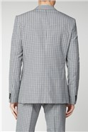 Stone Navy Micro Check Slim Fit Suit