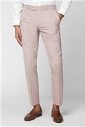 Light Pink Slim Fit Suit Trousers