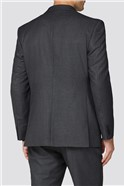 Charcoal Semi Plain Regular Fit Two Piece Suit