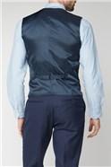 Blue Texture Birdseye Performance Regular Fit Suit