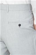 Light Grey Texture Regular Fit Suit Trousers