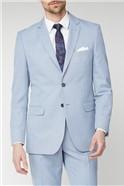 Ice Blue Linen Look Regular Fit Suit Trousers