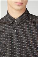 Stencil Geo Print Shirt