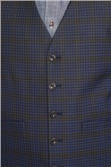 Blue Mustard Shadow Check Tailored Fit Suit