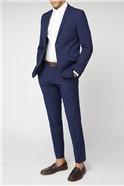 BS Signature Tailoring Blue rust fleck slim fit suit trouser
