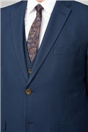 Deep Blue Structure Big and Tall Suit Waistcoat