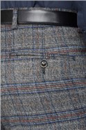 Charcoal & Blue Checked Trousers
