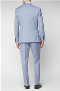 Pale Blue Tailored Fit Suit Trousers