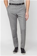 Light Grey Textured Check Soho Suit Trousers