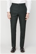 Branded Green Puppytooth Tailored Suit Trousers