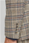 Oatmeal Heritage Check Waistcoat
