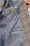 Oatmeal Heritage Check Regular Fit Suit