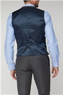 Grey Texture Tailored Fit Waistcoat