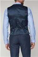 Navy Texture Tailored Fit Waistcoat