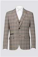 Brown Heritage Check Trousers