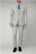 Light Grey Blue Check Trouser