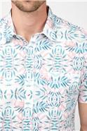 Casual Pink Flamingo Print Shirt
