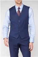Stvdio Blue Textured Peformance Tailored Fit Waistcoat