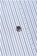 Stvdio Slim Fit Navy Zig Zag Stripe Shirt