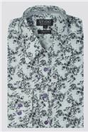 Stvdio Grey Sketch Roses Print Shirt