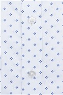 Brit White Geo Print Slim Fit Shirt