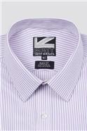 Brit Lilac Fine Stripe Slim Fit Shirt