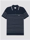 Textured Stripe Polo Shirt