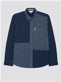 Archive Patchwork Indigo Print Shirt