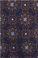 Navy Burnt Orange Deco Tie