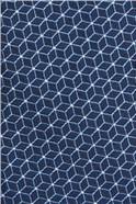 Blue Geo Tie