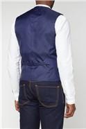 Blue Structured Regular Fit Suit