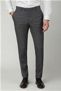 Grey Texture Slim Trousers