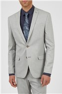 Slim Fit Cool Grey Texture Two Piece Suit