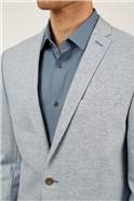 Slim Fit Pale Blue Texture Two Piece Suit