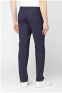 Midnight Navy Fleck Slim Fit Trouser