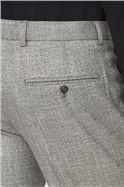 Grey Twist Structure Slim Trousers