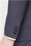 Navy Texture Regular Fit Suit