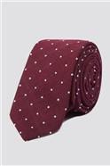 Brit Wine Textured Spot Tie