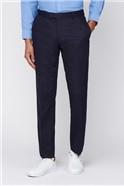 Navy Texture Trouser