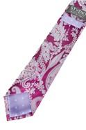 Magenta Paisley Silk Tie