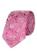 Magenta Carnations Silk Tie