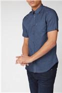 Short Sleeve Semi Plain Geo Shirt