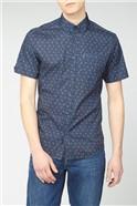 Short Sleeve Rose Print Shirt